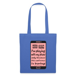 cloth shopping bag pink phone keep calm - Borsa di stoffa