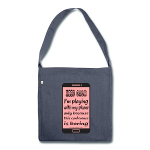 recycled bag pink phone keep calm - Borsa in materiale riciclato
