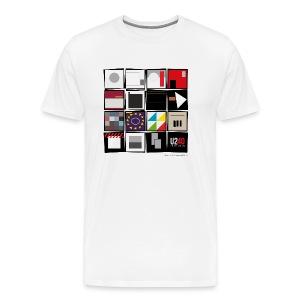 40: Album wall (white) - Men's Premium T-Shirt