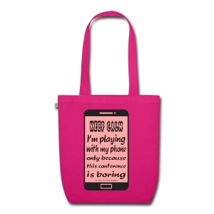 organic bag pink phone keep calm - Borsa ecologica in tessuto