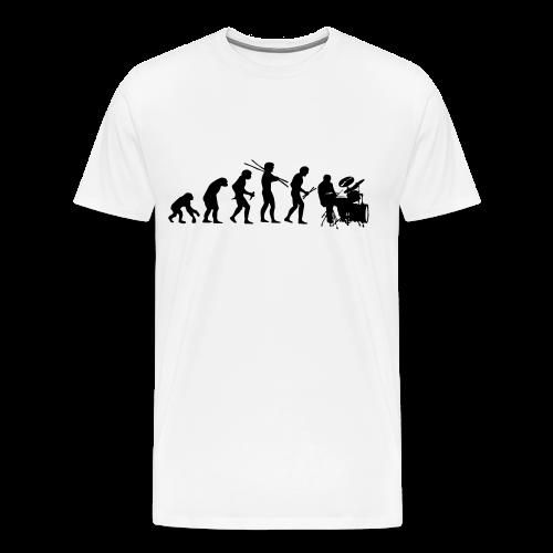 Evolution of a drummer - Mannen Premium T-shirt