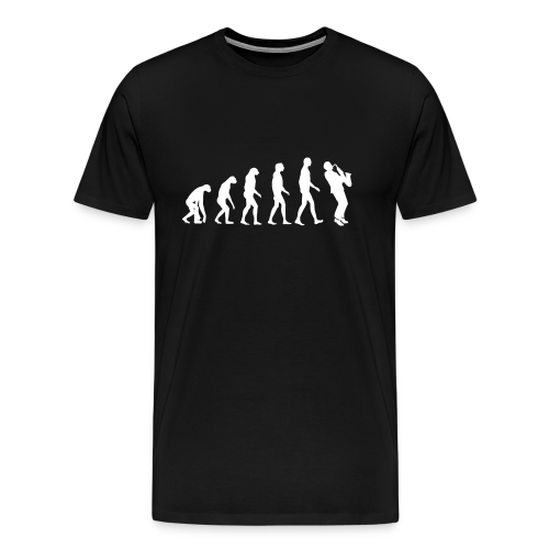 The evolution of sax - Mannen Premium T-shirt