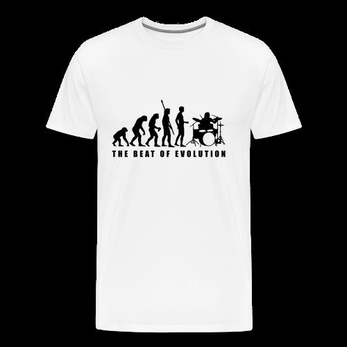 The beat of evolution - Mannen Premium T-shirt