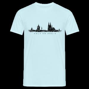 Köln am Rhein Skyline Vintage Schwarz