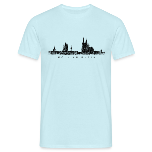 Köln am Rhein Skyline (Vintage Schwarz) T-Shirt - Männer T-Shirt