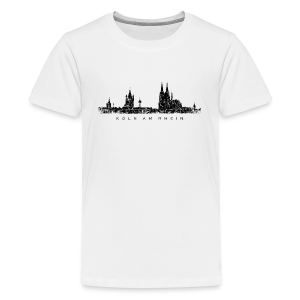 Köln am Rhein Skyline (Vintage Schwarz) Teenager T-Shirt - Teenager Premium T-Shirt