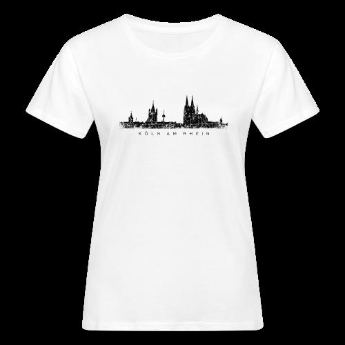 Köln am Rhein Skyline (Vintage Schwarz) Bio T-Shirt - Frauen Bio-T-Shirt