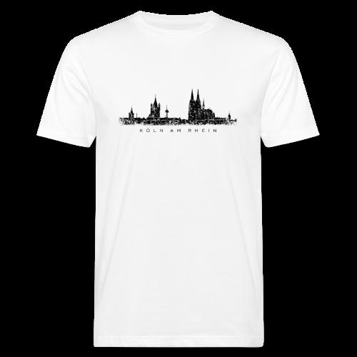 Köln am Rhein Skyline (Vintage Schwarz) Bio T-Shirt - Männer Bio-T-Shirt
