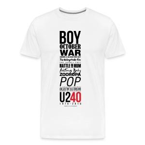 40: Album listing (white) - Men's Premium T-Shirt