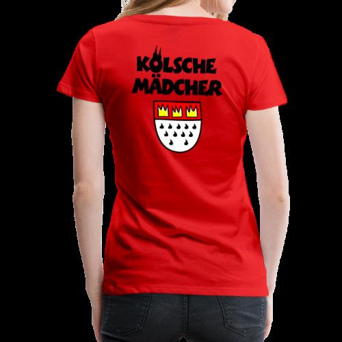 Kölsche Mädcher mit Kölner Wappen S-3XL Köln T-Shirt - Frauen Premium T-Shirt