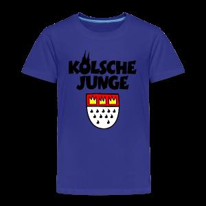 Kölsche Junge mit Kölner Wappen Köln Kinder T-Shirt - Kinder Premium T-Shirt