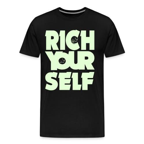 RICH YOURSELF- Jugend Shirt - Männer Premium T-Shirt