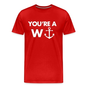 Funny heren shirt: You're a wanker!  - Mannen Premium T-shirt