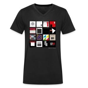40: Album wall (black, v-neck) - Men's Organic V-Neck T-Shirt by Stanley & Stella