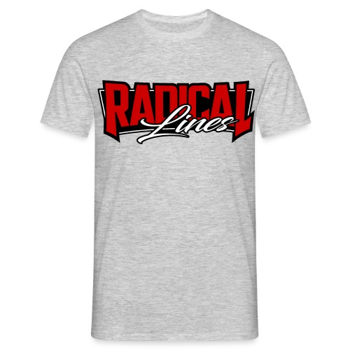 Radical lines grey - Men's T-Shirt