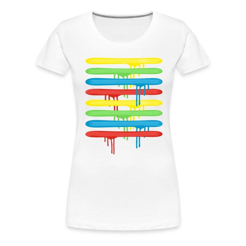 regenbogen pinselstriche t shirt spreadshirt. Black Bedroom Furniture Sets. Home Design Ideas