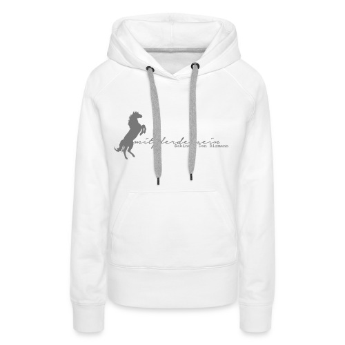 Front: RU Font, Women Hoody ( Print: Grey) - Frauen Premium Hoodie