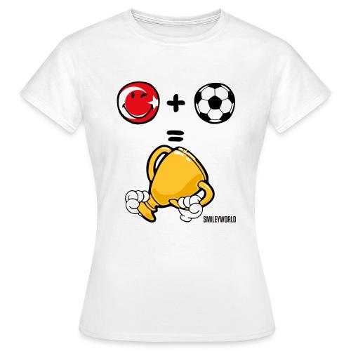 SmileyWorld Turkey + Football = Winner - Frauen T-Shirt