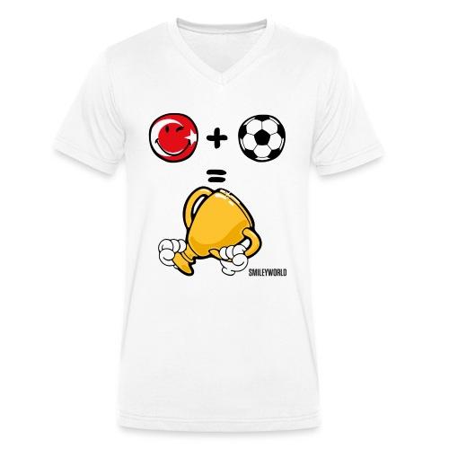 SmileyWorld Turkey + Football = Winner - Männer Bio-T-Shirt mit V-Ausschnitt von Stanley & Stella
