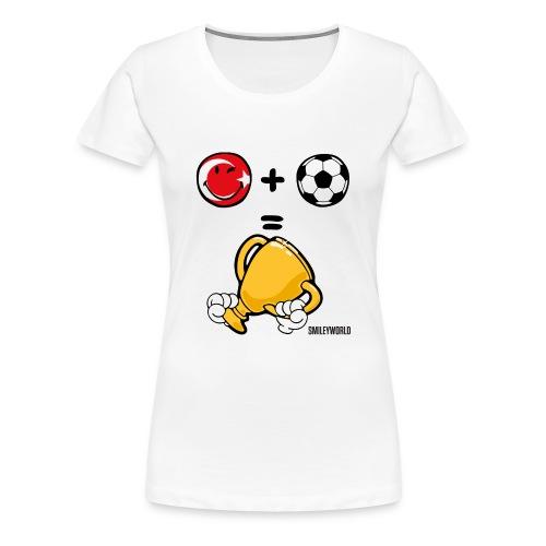 SmileyWorld Turkey + Football = Winner - Frauen Premium T-Shirt