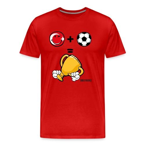 SmileyWorld Turkey + Football = Winner - Männer Premium T-Shirt
