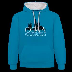 CCAA Colonia Dom St.Martin (Vintage S/W) Köln Kontrast Hoodie - Kontrast-Hoodie