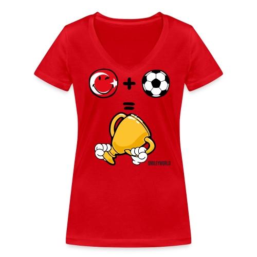 SmileyWorld Turkey + Football = Winner - Frauen Bio-T-Shirt mit V-Ausschnitt von Stanley & Stella