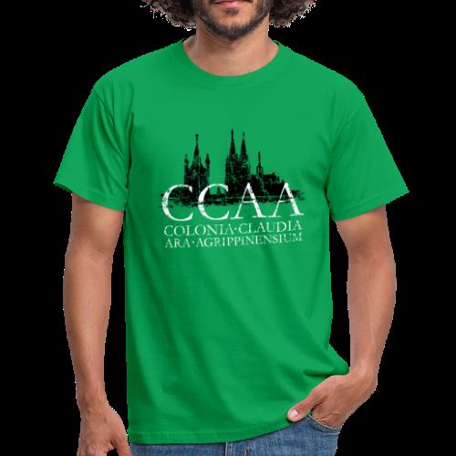CCAA Colonia Dom St.Martin (Vintage S/W) Köln Skyline Römisch - Männer T-Shirt