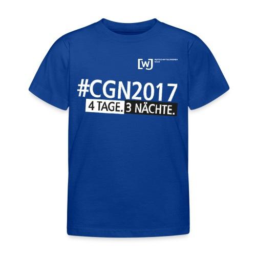 #CGN 2017 Botschafter-Shirt Jungen - Kinder T-Shirt