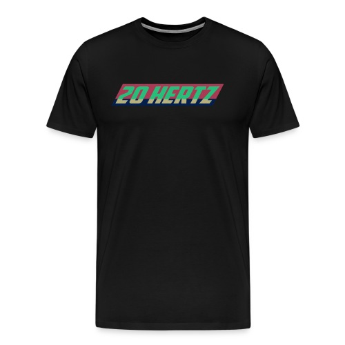 Mens Retro 20 Hertz Logo inverted - Men's Premium T-Shirt