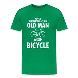 Never Underestimate An Old Man With A Bicycle T-Shirts - Männer Premium T-Shirt