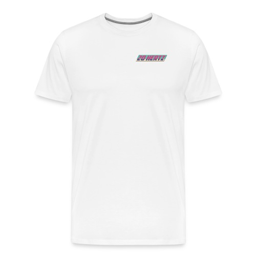 Retro 20 Hertz Logo with Badge  - Men's Premium T-Shirt
