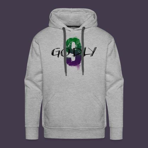 godlyNiNE Logo Lila/Grün Hoodie Boyz - Männer Premium Hoodie