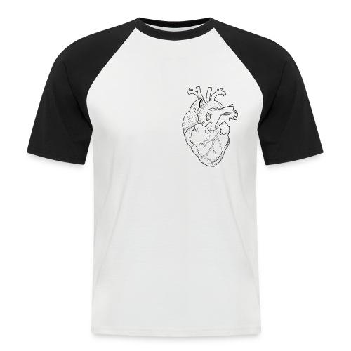 Human Heart - Maglia da baseball a manica corta da uomo