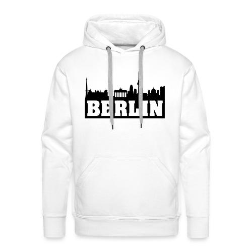 Berlin Skyline Hoodie (Premium 100% Baumwolle) - Männer Premium Hoodie