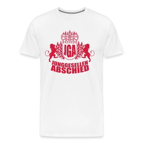 Junggesellenabschied Fußballtrikot T-Shirt mit Nummer 1 - Männer Premium T-Shirt