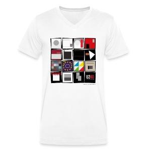 40: Album wall (white, v-neck) - Men's Organic V-Neck T-Shirt by Stanley & Stella