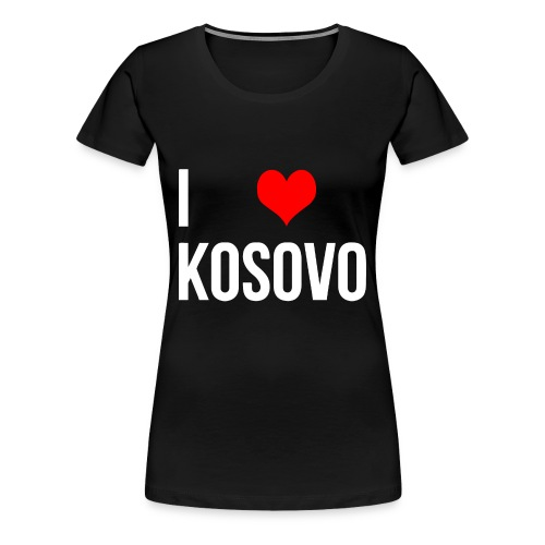 I Love Kosovo - T-shirt - Frauen Premium T-Shirt