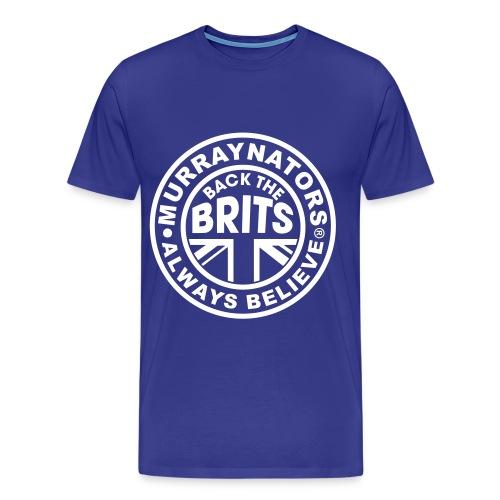 Back The Brits. Mens T. Blue. Large Sizes. - Men's Premium T-Shirt