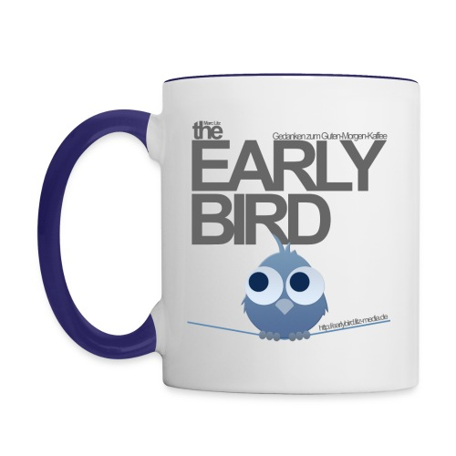 The Early Bird Tasse -Classic- *Blau* - Tasse zweifarbig