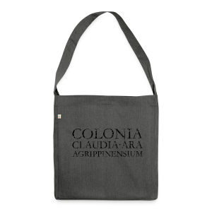 COLONIA CLAUDIA ARA AGRIPPINENSIUM (Vintage Schwarz) Recycling Tasche - Schultertasche aus Recycling-Material