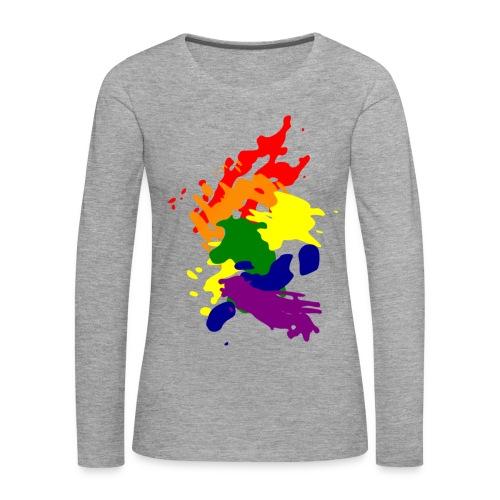 LESBIAN POWER LONG SLEEVE SHIRT  - Women's Premium Longsleeve Shirt