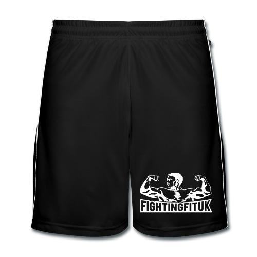 Fighting Fit UK mens football shorts - new white logo - Men's Football shorts