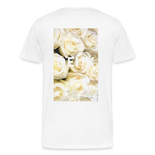 white roses. - Men's Premium T-Shirt