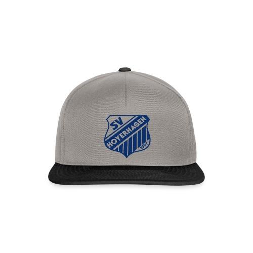 Basecap, grau-schwarz - Snapback Cap