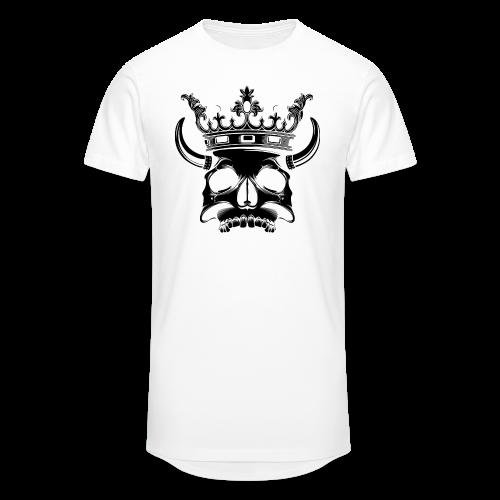 Skull Longshirt (negative) - Mannen Urban longshirt