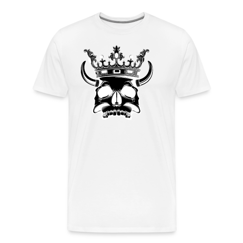 Skull T-shirt (negative) - Mannen Premium T-shirt