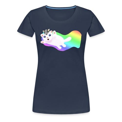Kat t-shirt Female Navy - Frauen Premium T-Shirt