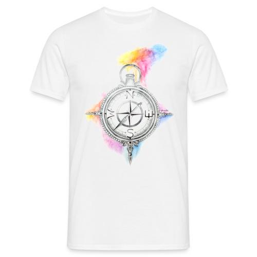 Kompass Man's T Rundhals - Männer T-Shirt