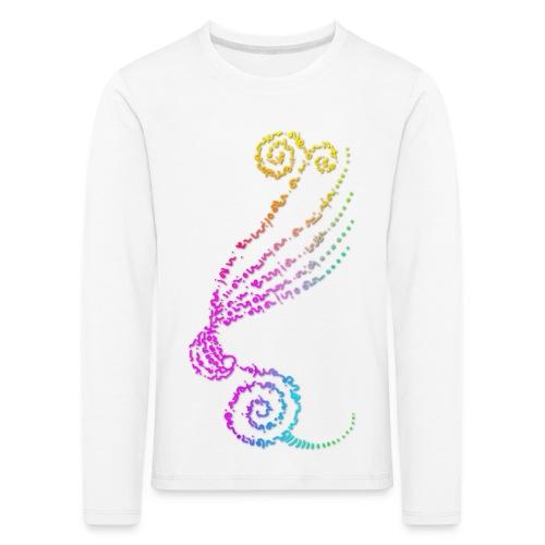 Tee shirt manches longues Premium Enfant, Nuréa / GundaI Intricité : Forme Pensée - Color - T-shirt manches longues Premium Enfant